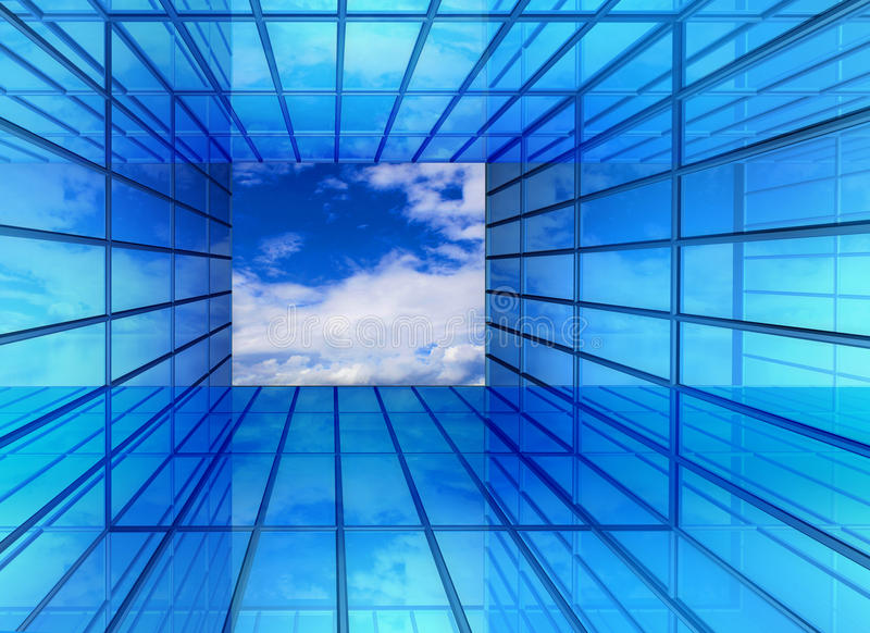 视窗的将来的走廊 向量例证