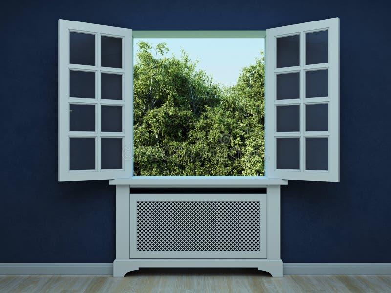 视窗的庭院 免版税库存照片