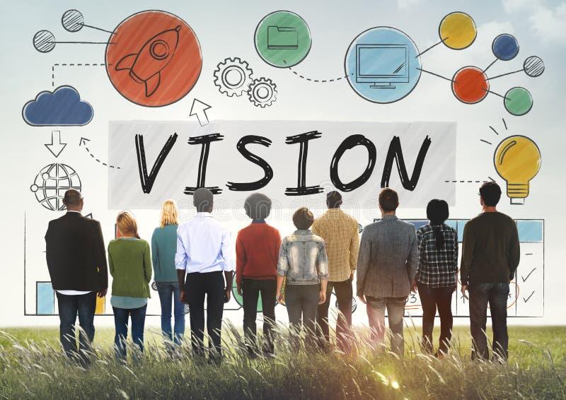 视觉企业成长公司目标概念 免版税库存图片