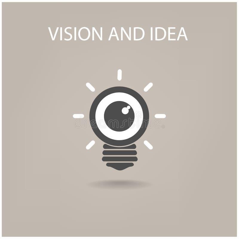 视觉和想法标志 库存例证