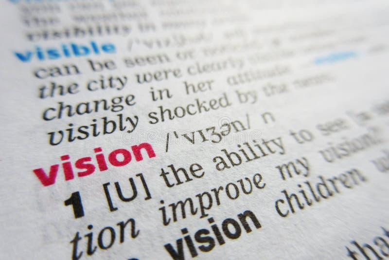 视觉字词词典定义 库存图片