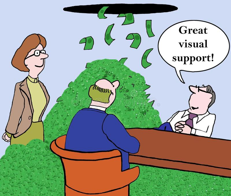 视觉支持 向量例证