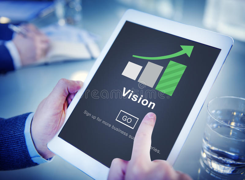 视觉方向未来启发使命计划概念 免版税库存照片