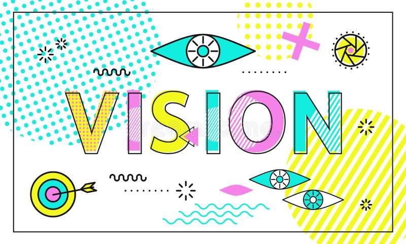 视觉概念性海报,传染媒介例证 库存例证