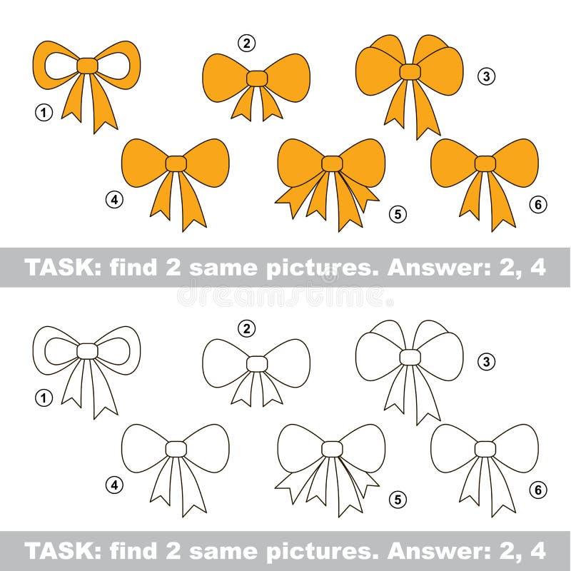 视觉比赛 发现弓暗藏的夫妇  库存例证