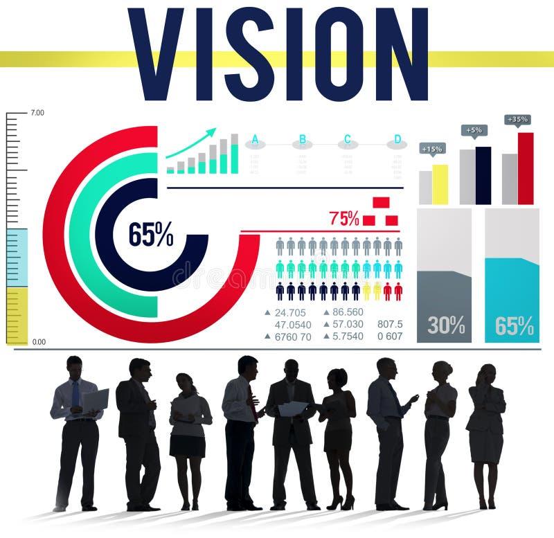 视觉目标使命刺激目标概念 皇族释放例证