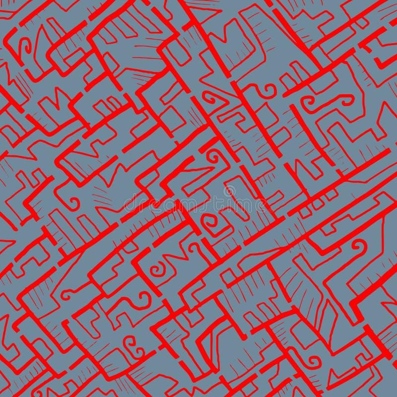 视觉迷宫盖子 向量例证