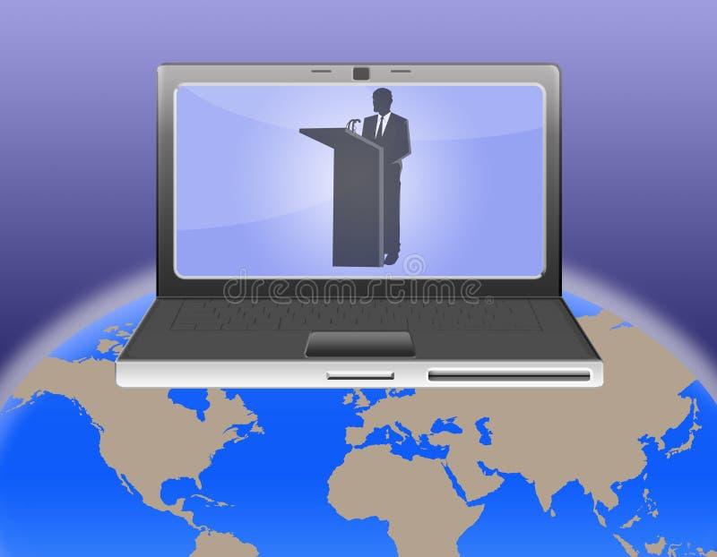 视频会议世界 皇族释放例证