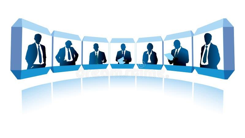 视频会议 库存例证