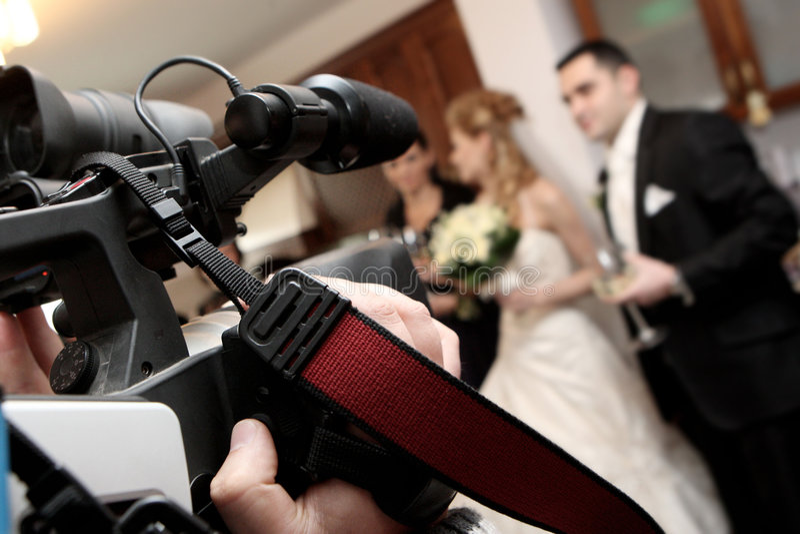 视频婚礼 免版税库存图片