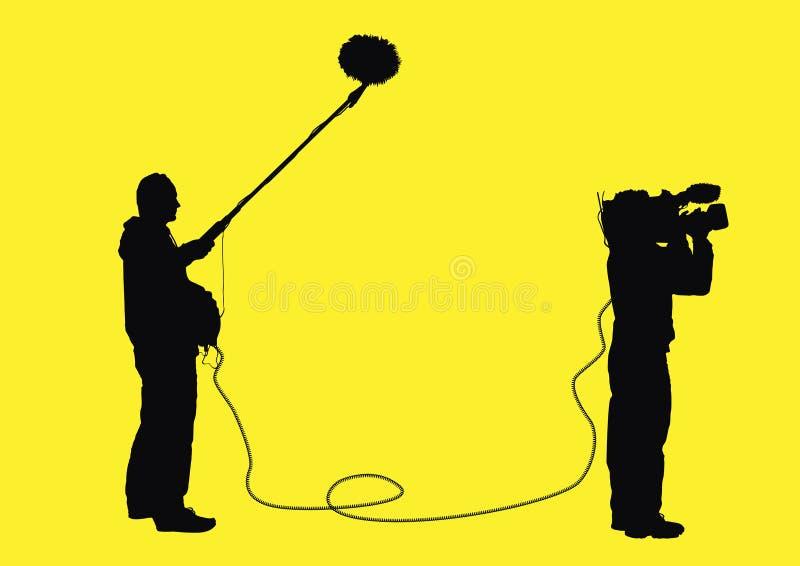视频的专业人员 向量例证
