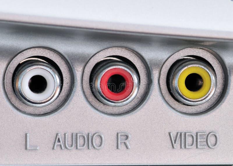 视频音频的插孔 库存图片