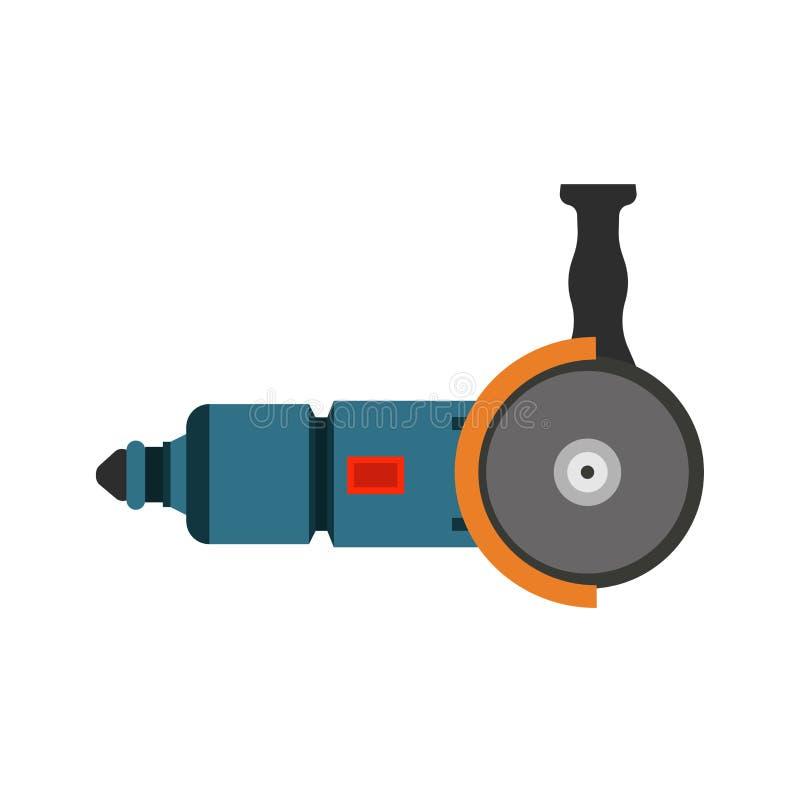 角度研磨机手技术制造业圆工具 建筑平的设备工厂 向量例证
