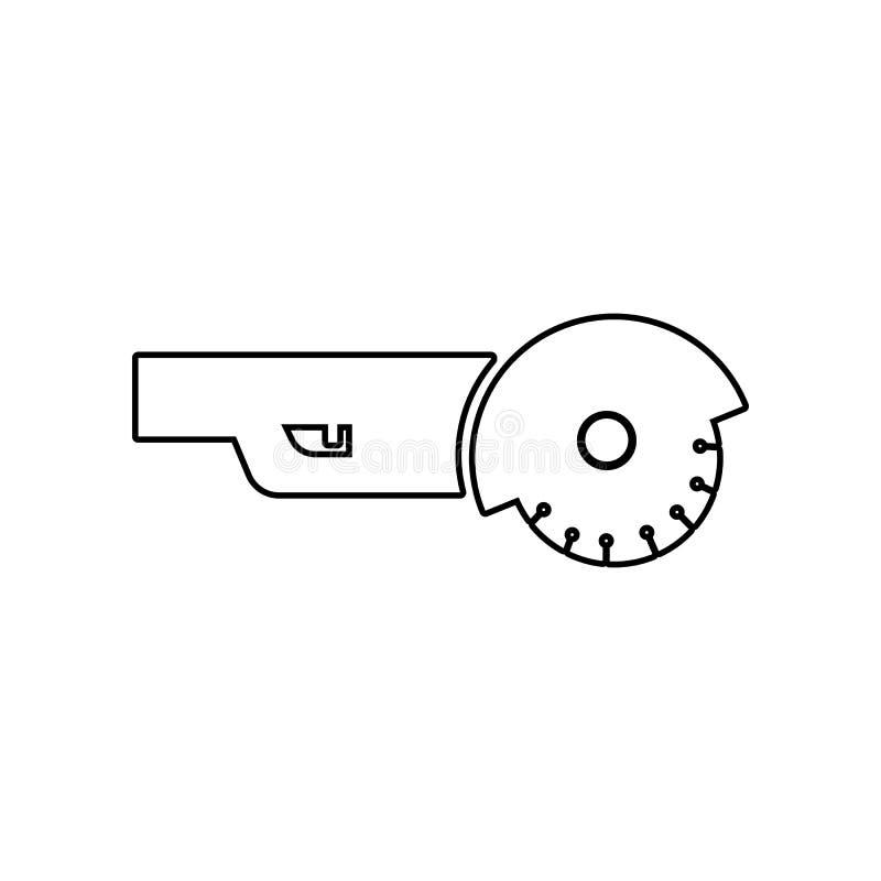 角度研磨机象 Constraction工具的元素为流动概念和网应用程序象的 r 皇族释放例证