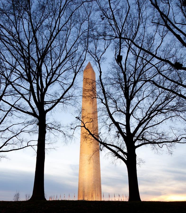 角度纪念碑视图宽华盛顿 免版税图库摄影