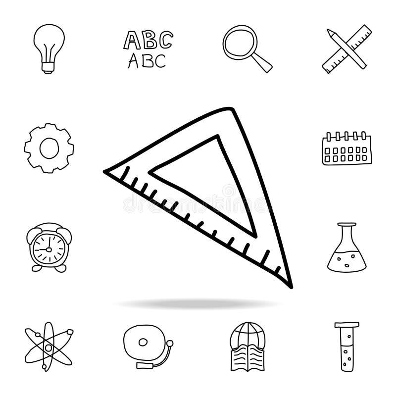 角度统治者剪影象 教育象的元素流动概念和网apps的 概述角度统治者剪影象可以是半新fo 向量例证