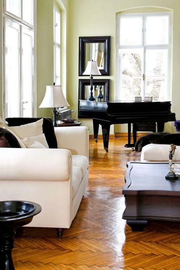 角度钢琴空间 库存照片