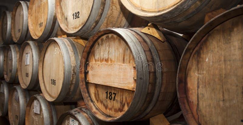 角度滚磨地窖视图宽酒 库存图片