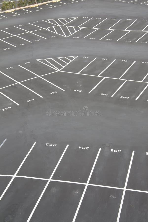 角落停车部分 免版税图库摄影