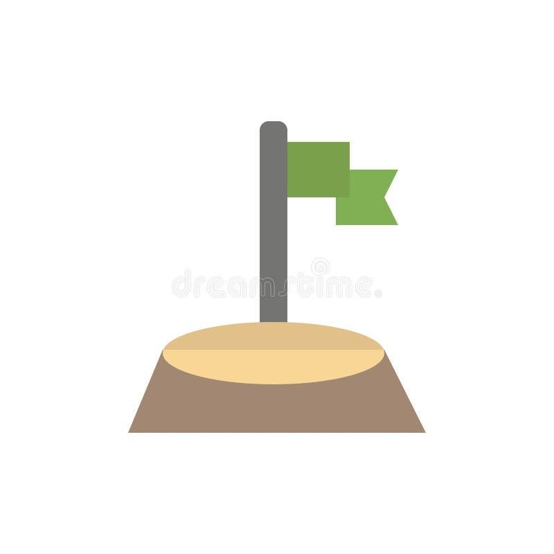 角落,旗子,高尔夫球,体育平的颜色象 传染媒介象横幅模板 向量例证
