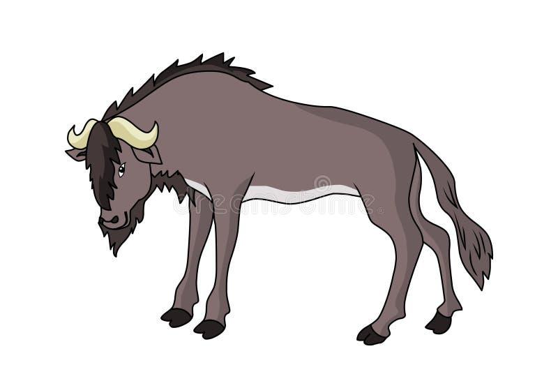 角马例证传染媒介 动物传染媒介wildbeast 库存例证