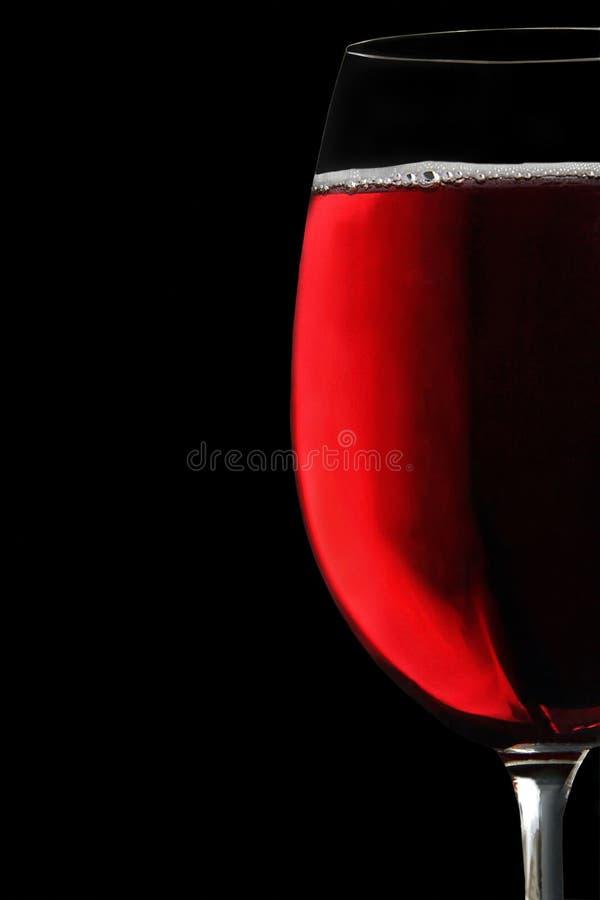 觚红葡萄酒 库存照片