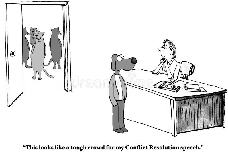 解决冲突讲话 向量例证