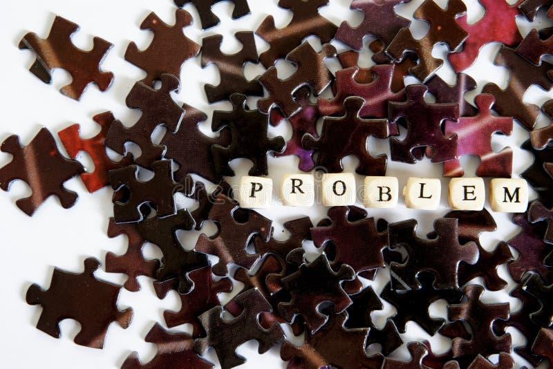 解决复杂问题 聚集的难题 在问题情况外面的机会 免版税库存图片