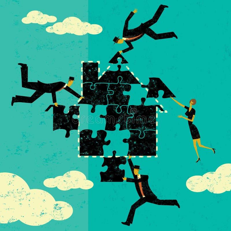 解决房屋贷款问题 库存例证