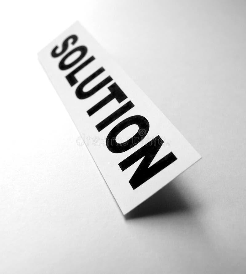 解决方法 免版税库存图片