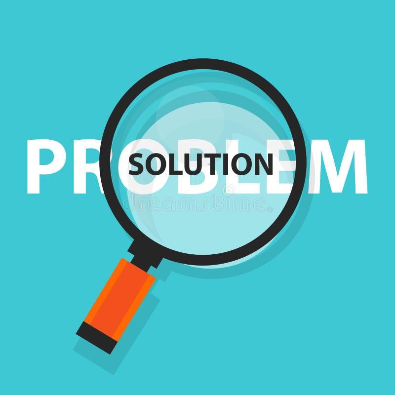 解决概念经营分析放大镜标志的问题解答 向量例证