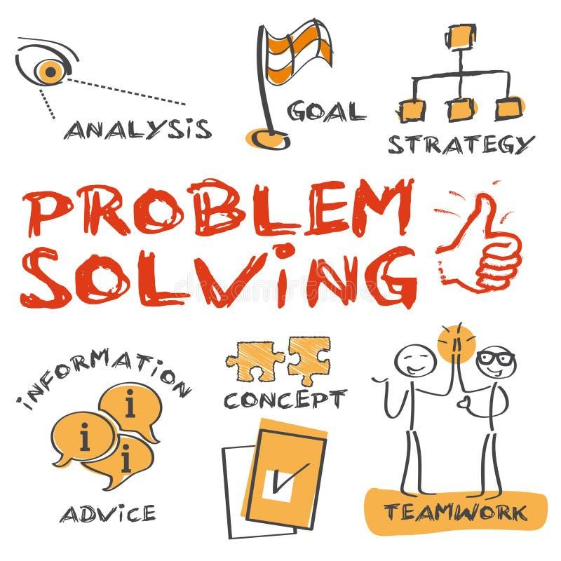 解决问题的概念 向量例证