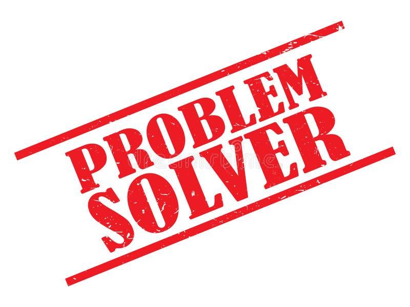解决问题者邮票 向量例证