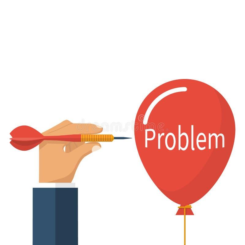解决问题,企业概念 库存例证