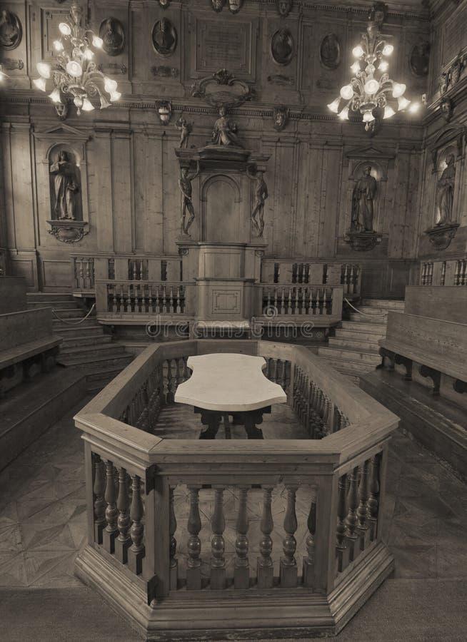 解剖学剧院-波隆纳 免版税库存图片
