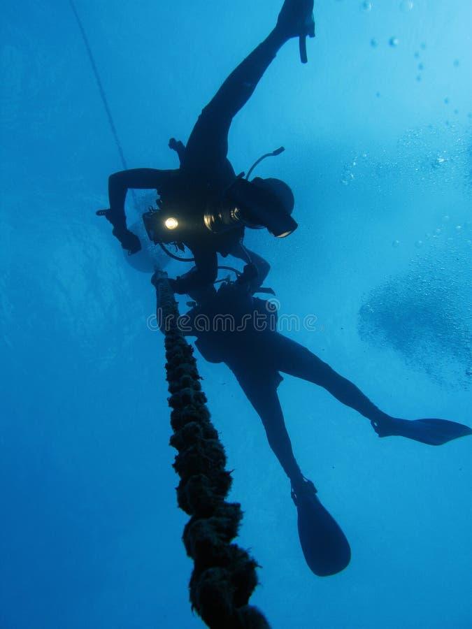 解压潜水员 免版税库存图片