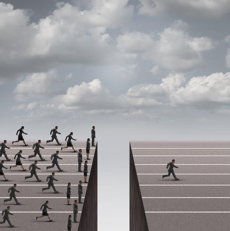 解答领导概念 向量例证