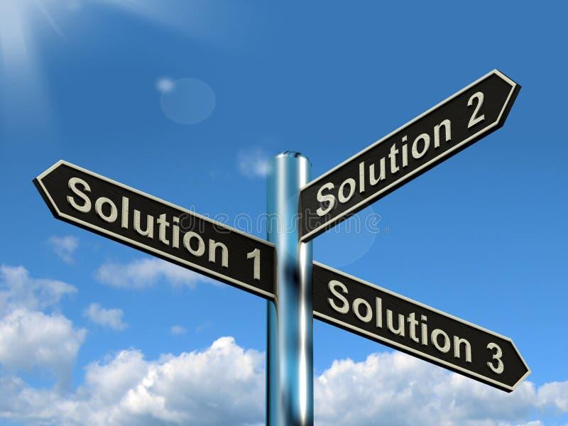 解答1 2或3挑选显示的战略选择决定或S 库存例证