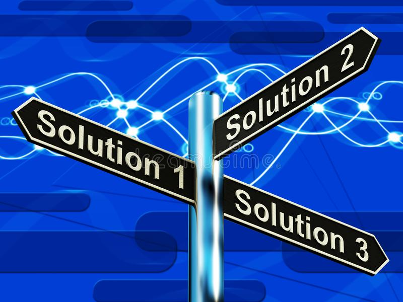 解答1 2或3挑选显示的战略选择决定3d I 皇族释放例证