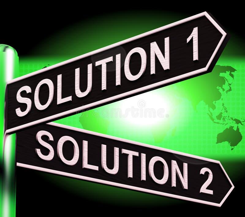 解答1或2挑选显示的战略选择3d例证 库存例证
