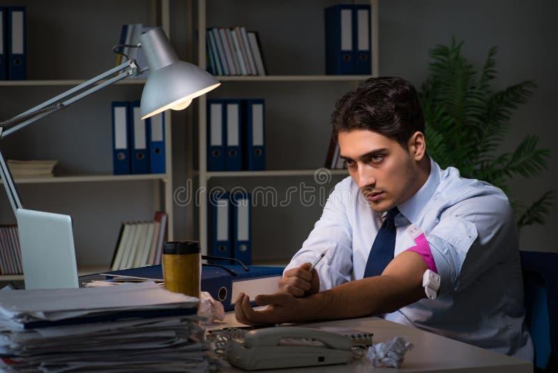 解除从额外时间的雇员重音用药物麻醉剂 图库摄影