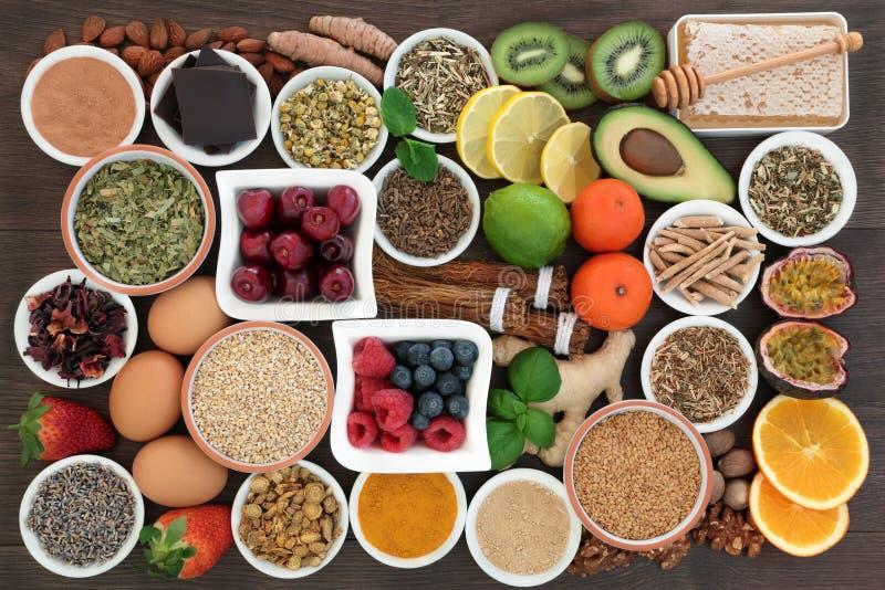 解除健康食品的重音和忧虑 免版税库存照片
