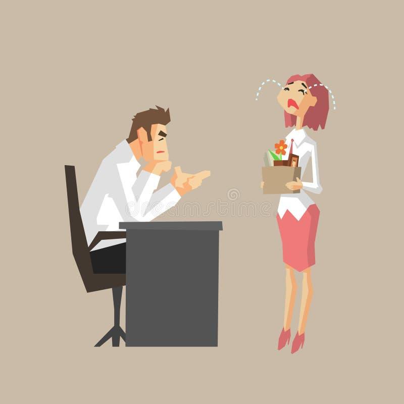 解雇雇员的上司 向量例证
