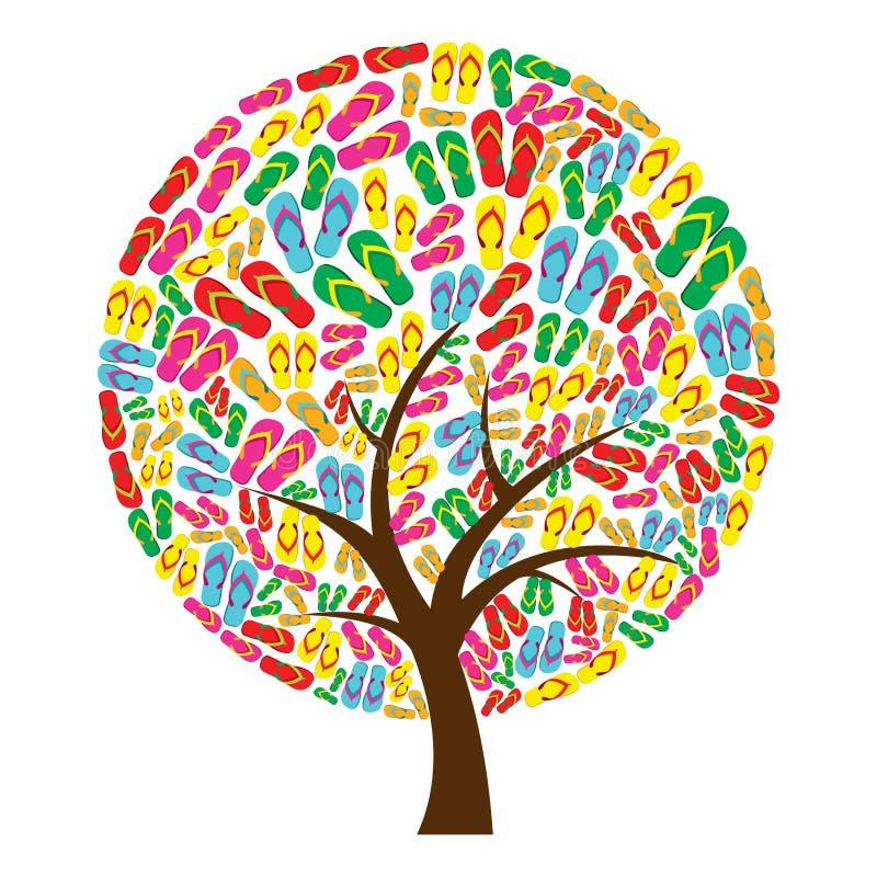 触发器塑造结构树 库存例证