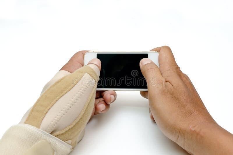 触发器手指油漆 库存照片