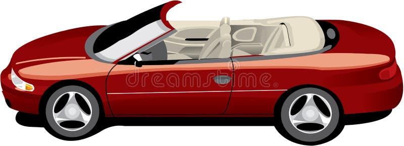 触毛敞篷车红色 向量例证