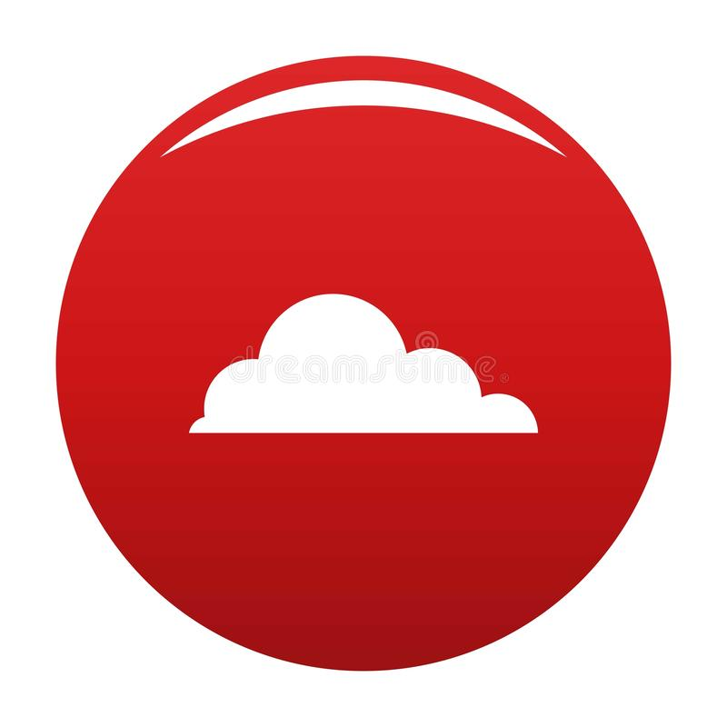 触毛积云象传染媒介红色 向量例证