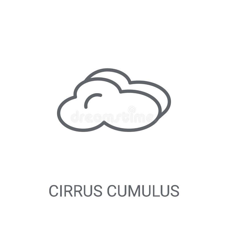 触毛积云象 在白色的时髦触毛积云商标概念 向量例证