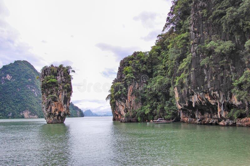 詹姆斯庞德海岛普吉岛,泰国 库存图片