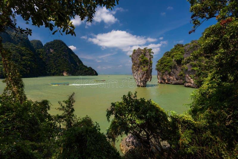 詹姆斯庞德海岛,普吉岛-泰国 免版税库存图片